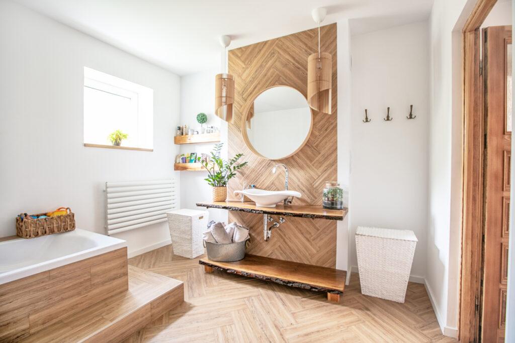 Badkamer schilderen - Boho stijl